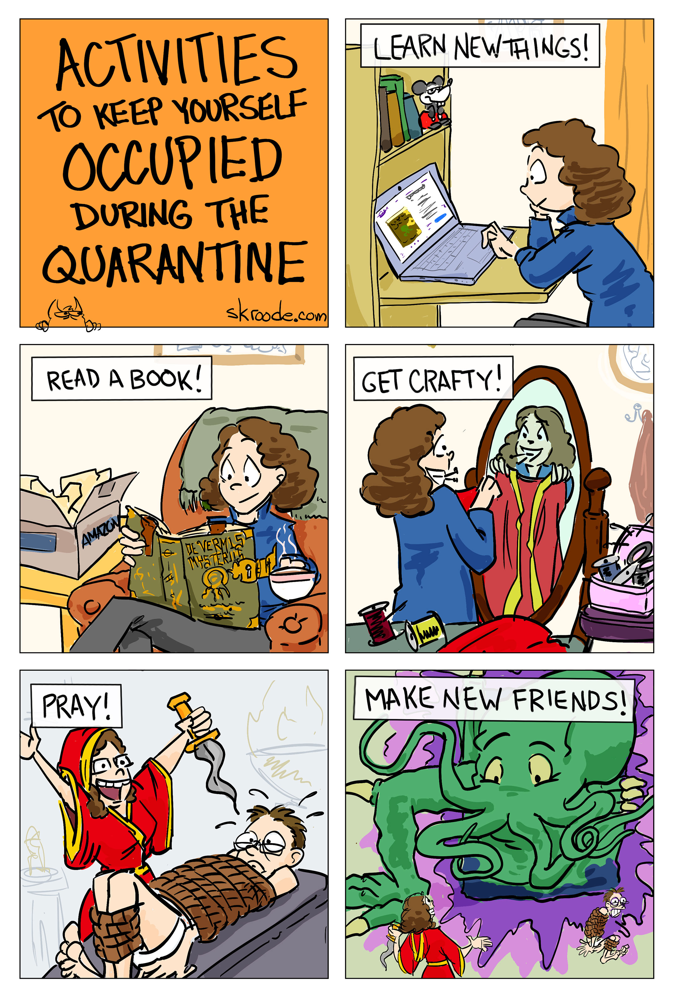 Activities to keep yourself occupied during the quarantine